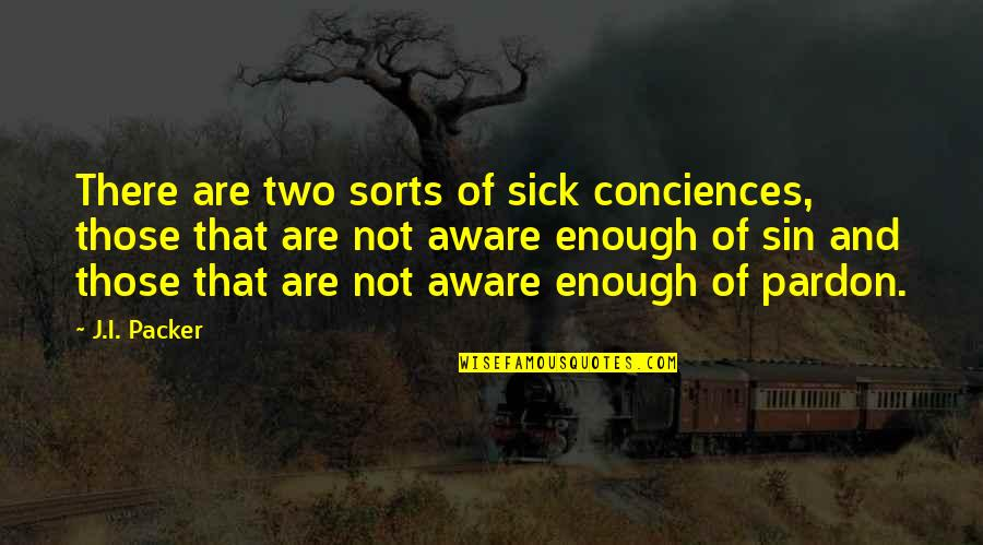 Someone Who Doesn Care Quotes By J.I. Packer: There are two sorts of sick conciences, those