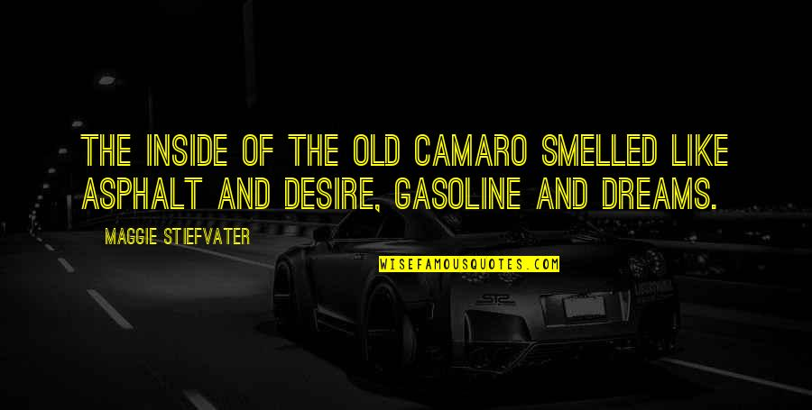Someone Who Has Passed Away Birthday Quotes By Maggie Stiefvater: The inside of the old Camaro smelled like