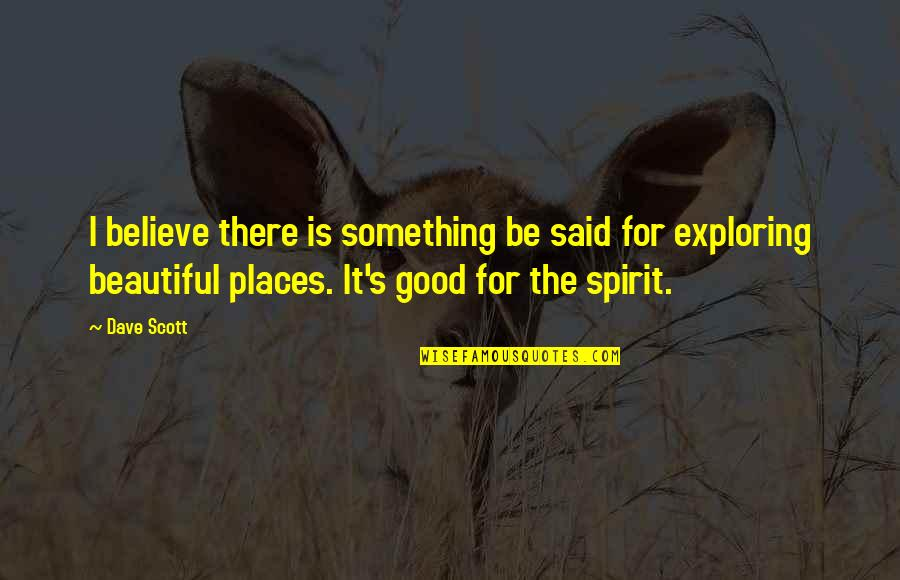 Something Beautiful Quotes By Dave Scott: I believe there is something be said for
