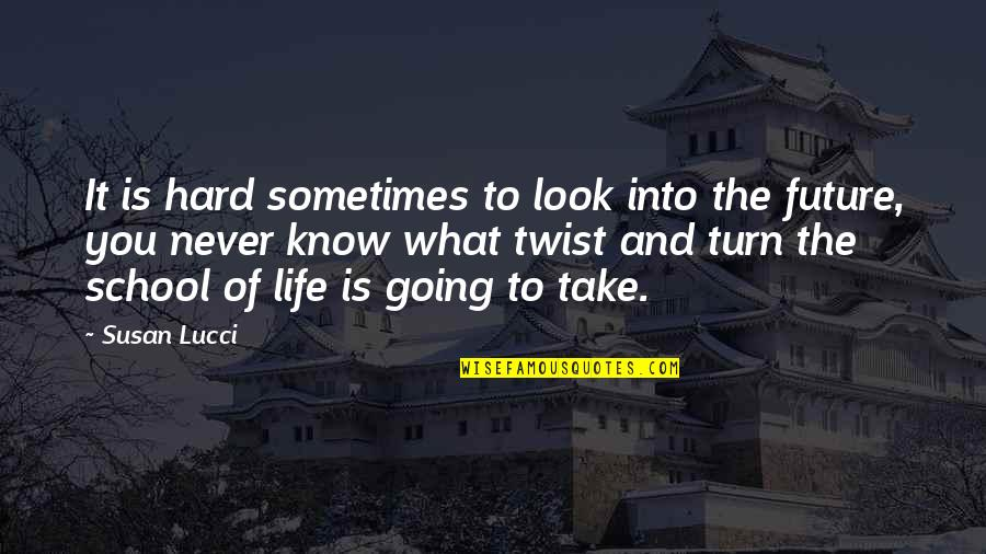 Sometimes Life's Just Hard Quotes By Susan Lucci: It is hard sometimes to look into the