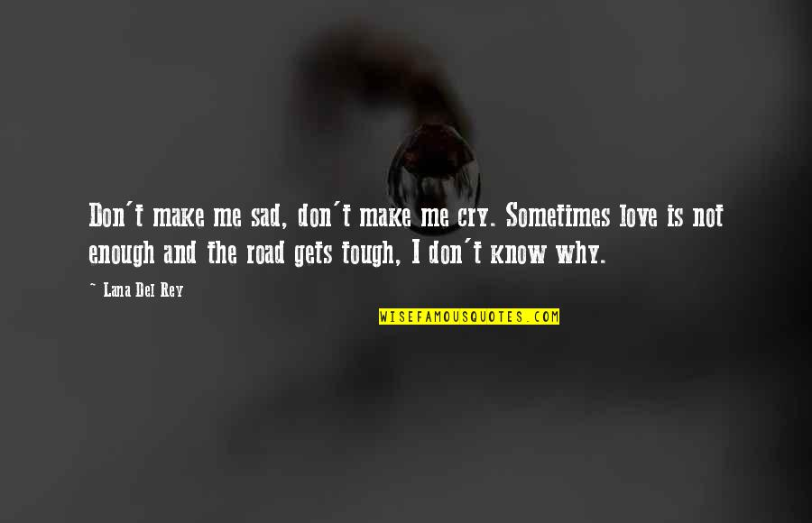 Sometimes Love Is Just Not Enough Quotes By Lana Del Rey: Don't make me sad, don't make me cry.