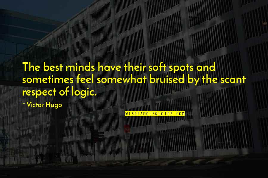 Somewhat Quotes By Victor Hugo: The best minds have their soft spots and