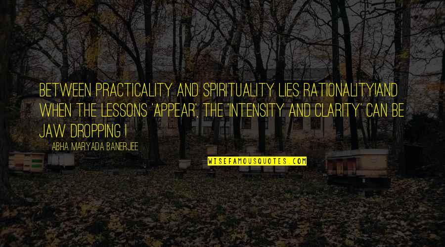 Son Of Crawmerax Quotes By Abha Maryada Banerjee: Between Practicality and Spirituality lies Rationality!And when the