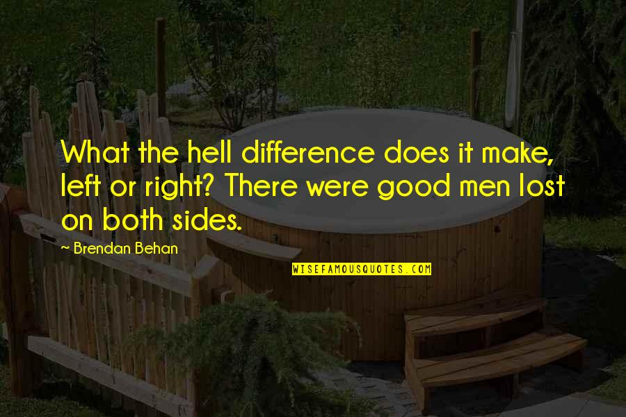 Son Of Crawmerax Quotes By Brendan Behan: What the hell difference does it make, left