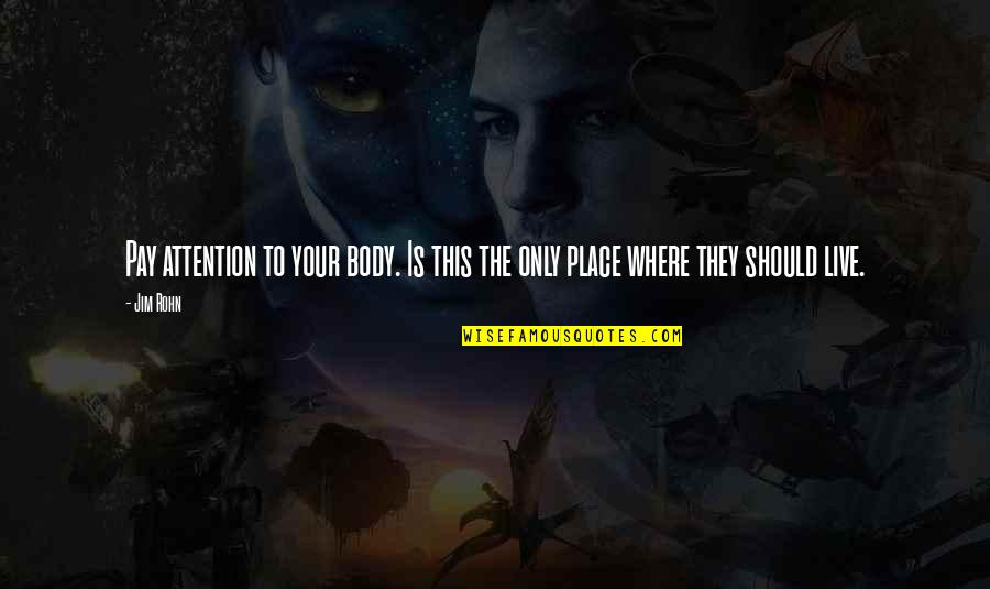 Son Of Crawmerax Quotes By Jim Rohn: Pay attention to your body. Is this the