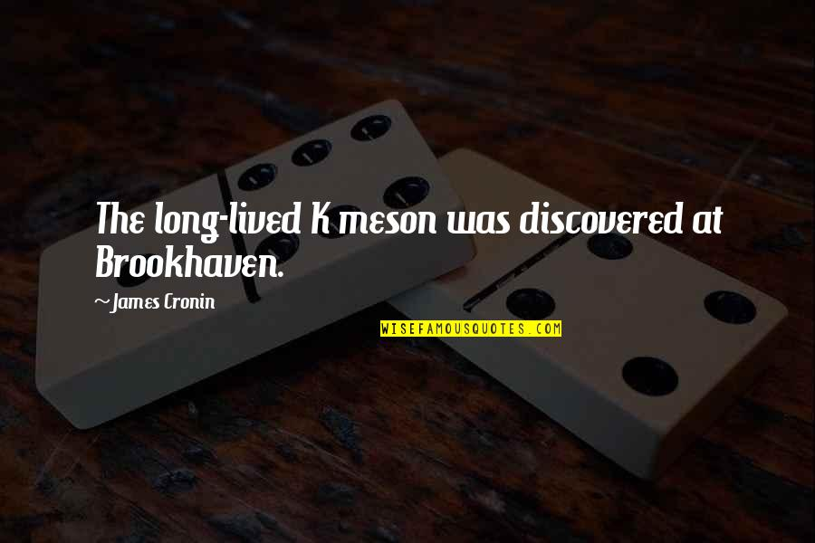 Sonny Forelli Quotes By James Cronin: The long-lived K meson was discovered at Brookhaven.
