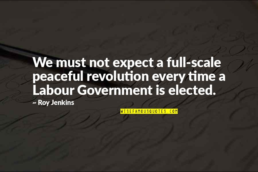 Sony Camera Quotes By Roy Jenkins: We must not expect a full-scale peaceful revolution