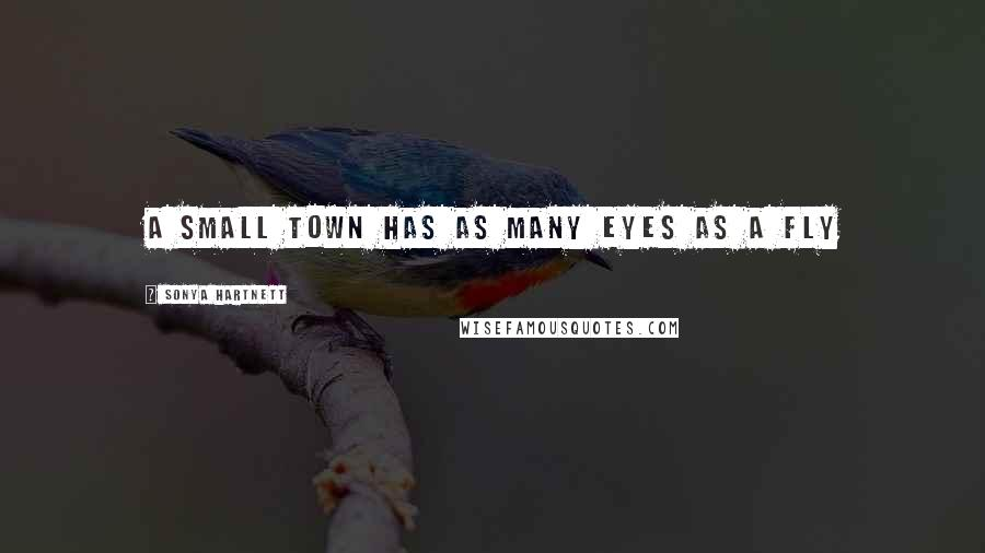 Sonya Hartnett quotes: A small town has as many eyes as a fly