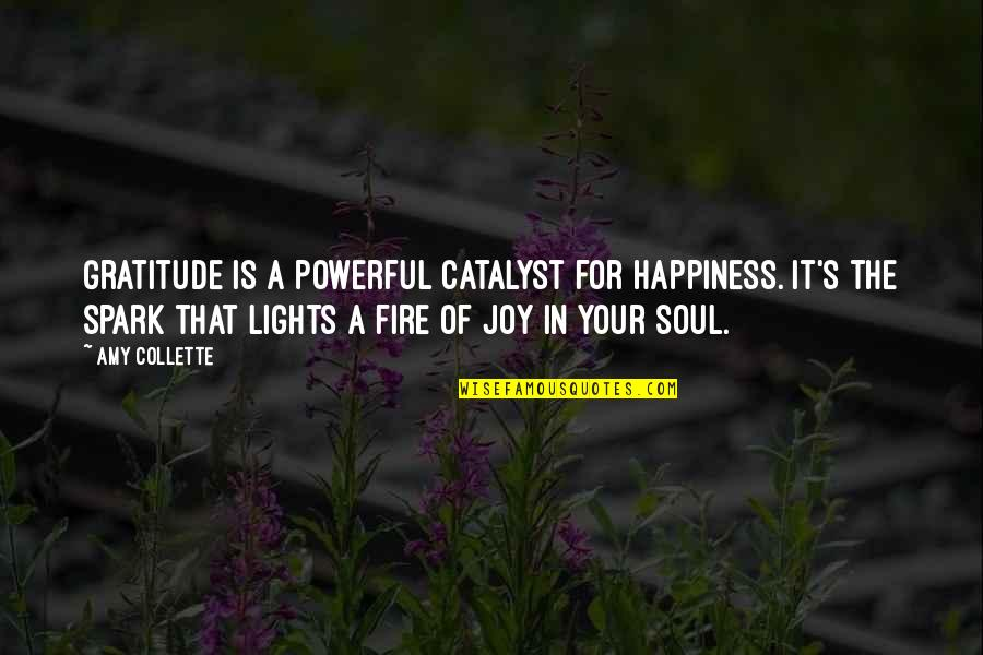 Soul Fire Quotes By Amy Collette: Gratitude is a powerful catalyst for happiness. It's