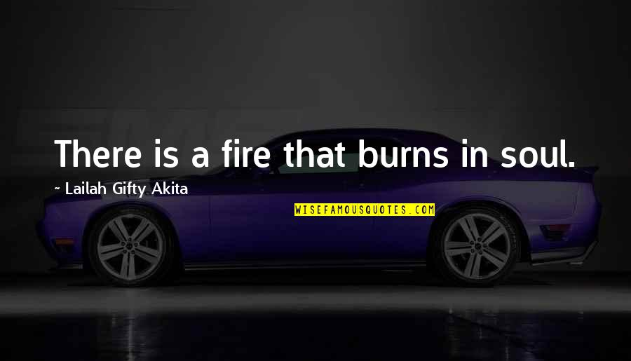Soul Fire Quotes By Lailah Gifty Akita: There is a fire that burns in soul.