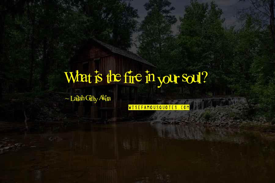 Soul Fire Quotes By Lailah Gifty Akita: What is the fire in your soul?