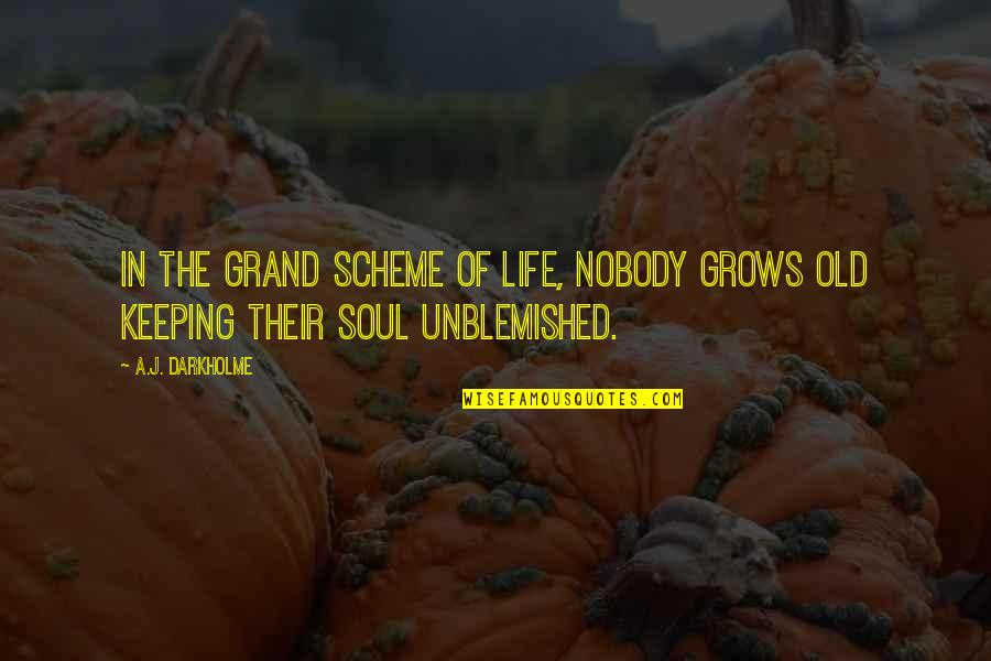 Soul Keeping Quotes By A.J. Darkholme: In the grand scheme of life, nobody grows