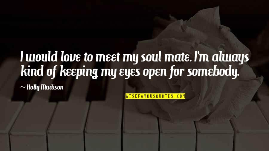 Soul Keeping Quotes By Holly Madison: I would love to meet my soul mate.