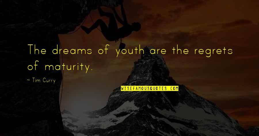 South Park Gregory Quotes By Tim Curry: The dreams of youth are the regrets of