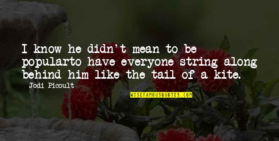 Soy Una Mujer Quotes By Jodi Picoult: I know he didn't mean to be popularto