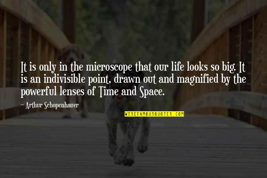 Space And Life Quotes By Arthur Schopenhauer: It is only in the microscope that our