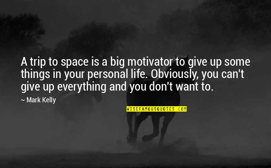 Space And Life Quotes By Mark Kelly: A trip to space is a big motivator