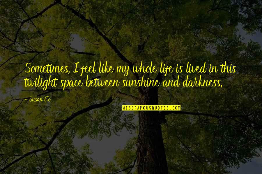 Space And Life Quotes By Susan Ee: Sometimes, I feel like my whole life is