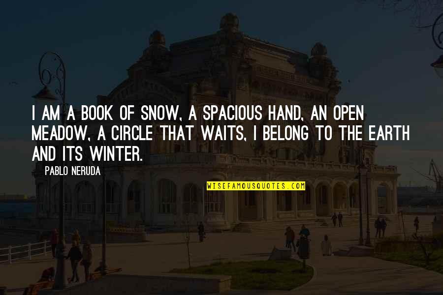 Spacious Quotes By Pablo Neruda: I am a book of snow, a spacious