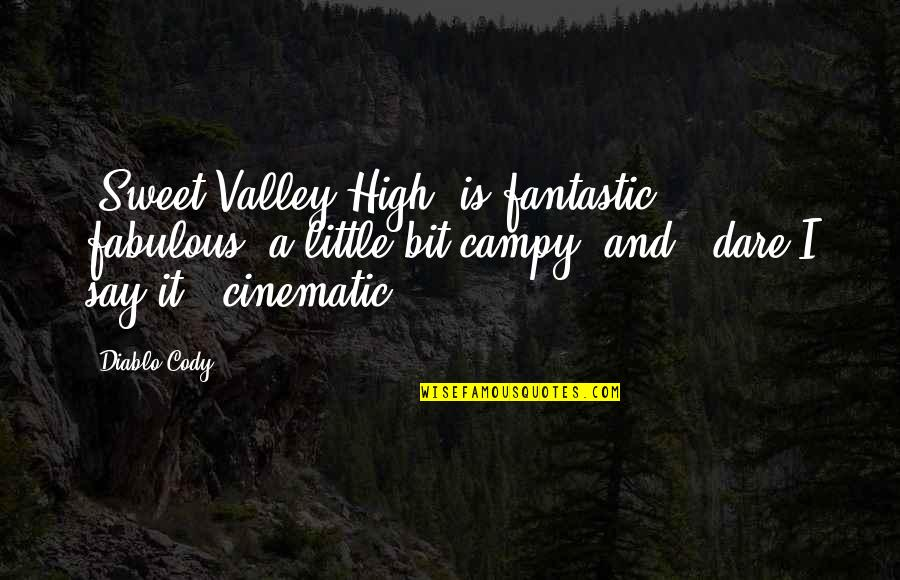 Spain Chile Quotes By Diablo Cody: 'Sweet Valley High' is fantastic, fabulous, a little
