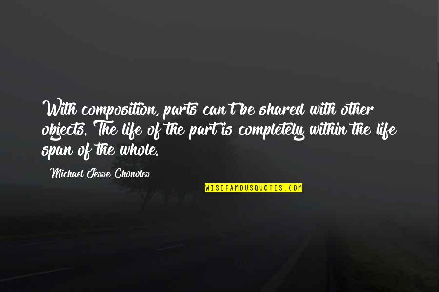 Span Quotes By Michael Jesse Chonoles: With composition, parts can't be shared with other