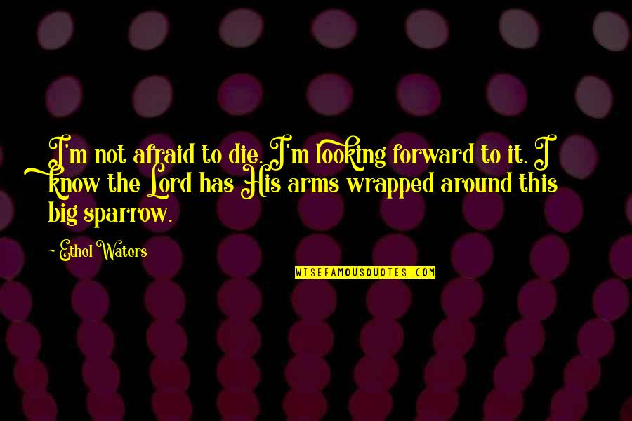 Sparrows Quotes By Ethel Waters: I'm not afraid to die. I'm looking forward