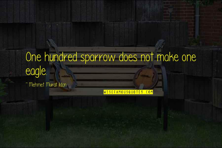 Sparrows Quotes By Mehmet Murat Ildan: One hundred sparrow does not make one eagle.