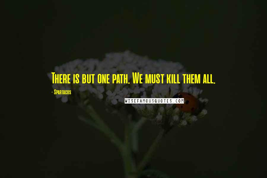 Spartacus quotes: There is but one path. We must kill them all.