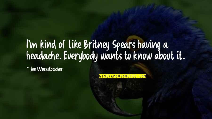 Spears's Quotes By Joe Wurzelbacher: I'm kind of like Britney Spears having a