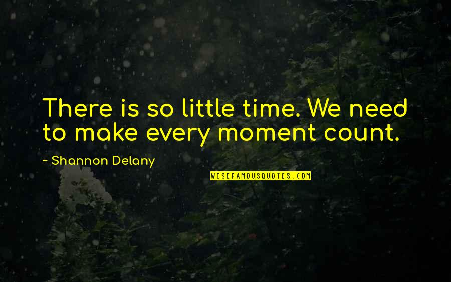 Special Love Quotes By Shannon Delany: There is so little time. We need to