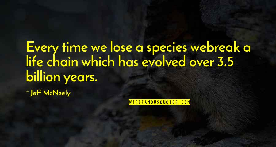 Species's Quotes By Jeff McNeely: Every time we lose a species webreak a