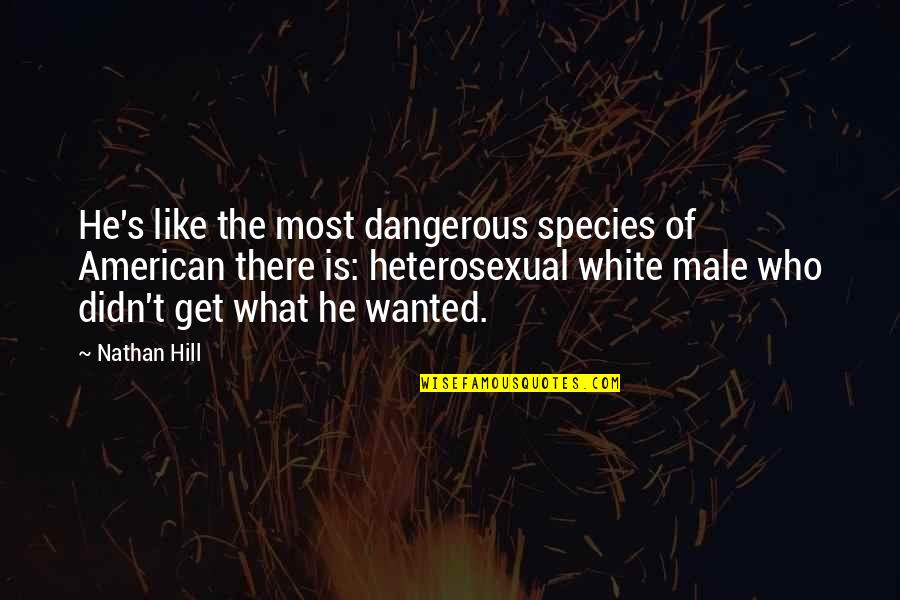 Species's Quotes By Nathan Hill: He's like the most dangerous species of American