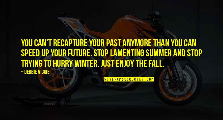 Speed'll Quotes By Debbie Viguie: You can't recapture your past anymore than you