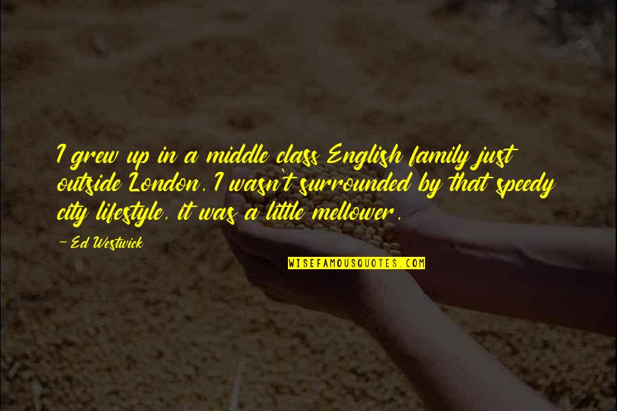 Speedy Quotes By Ed Westwick: I grew up in a middle class English