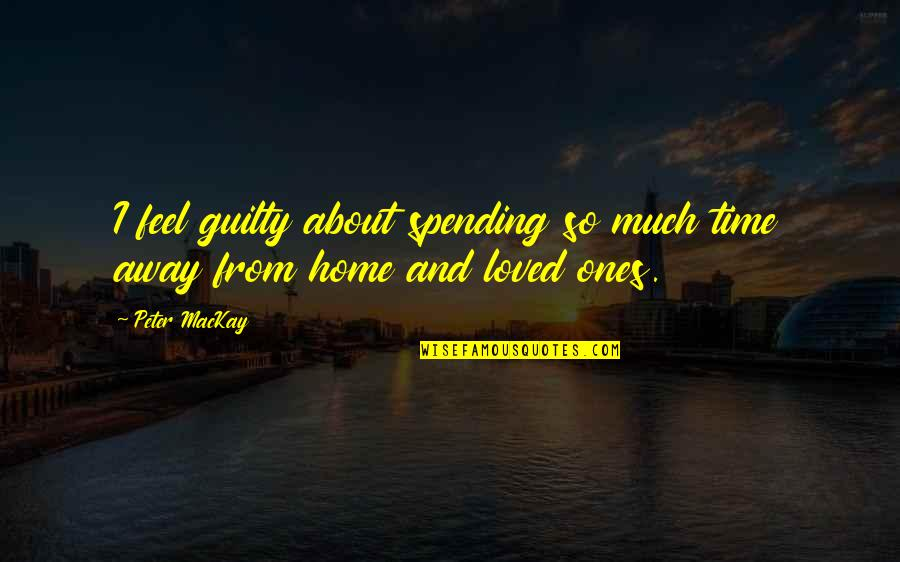 Spending Time With Your Loved Ones Quotes By Peter MacKay: I feel guilty about spending so much time