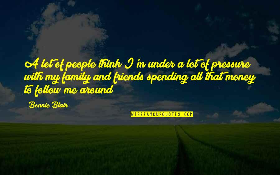 Spending Too Much Money Quotes By Bonnie Blair: A lot of people think I'm under a