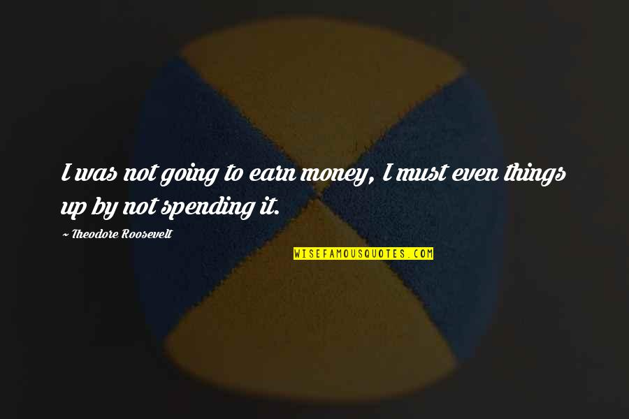 Spending Too Much Money Quotes By Theodore Roosevelt: I was not going to earn money, I
