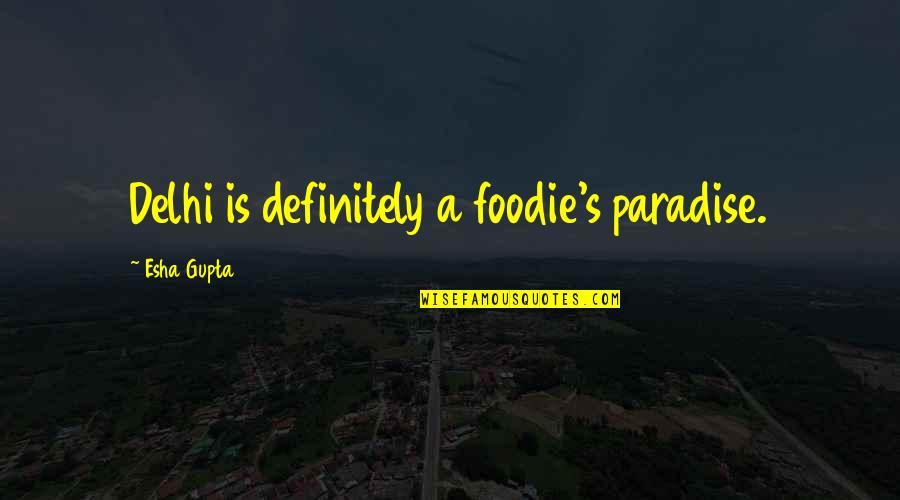 Speranta Moare Ultima Quotes By Esha Gupta: Delhi is definitely a foodie's paradise.