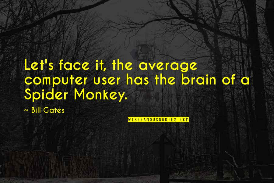 Spider Monkeys Quotes By Bill Gates: Let's face it, the average computer user has