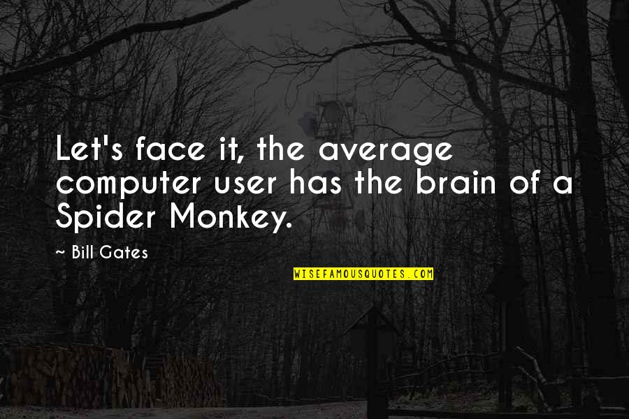 Spider Quotes By Bill Gates: Let's face it, the average computer user has