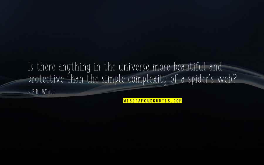 Spider Web Quotes By E.B. White: Is there anything in the universe more beautiful