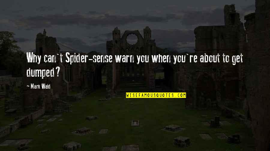 Spiderman 3 Quotes By Mark Waid: Why can't Spider-sense warn you when you're about