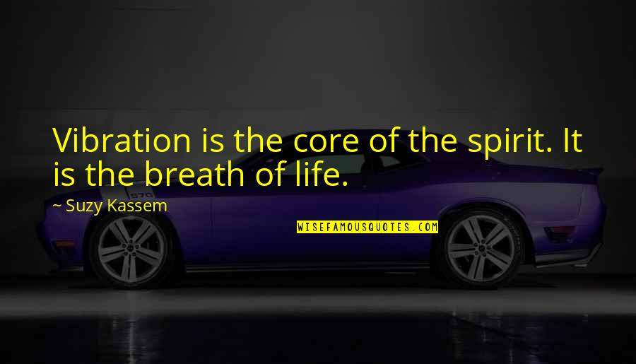 Spirit Of Science Quotes By Suzy Kassem: Vibration is the core of the spirit. It