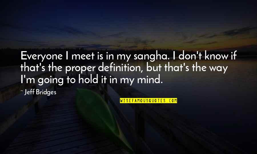 Split String Comma Quotes By Jeff Bridges: Everyone I meet is in my sangha. I