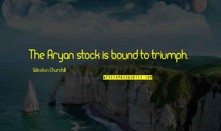 Spongebob Argh Quotes By Winston Churchill: The Aryan stock is bound to triumph.