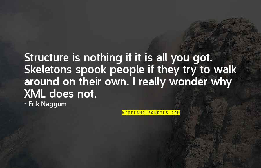 Spook's Quotes By Erik Naggum: Structure is nothing if it is all you
