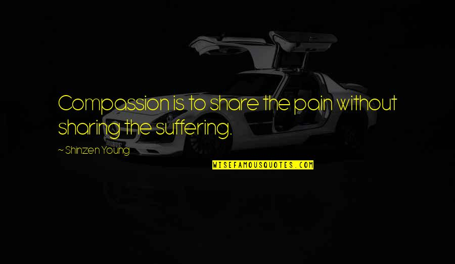 Sports Journalist Quotes By Shinzen Young: Compassion is to share the pain without sharing