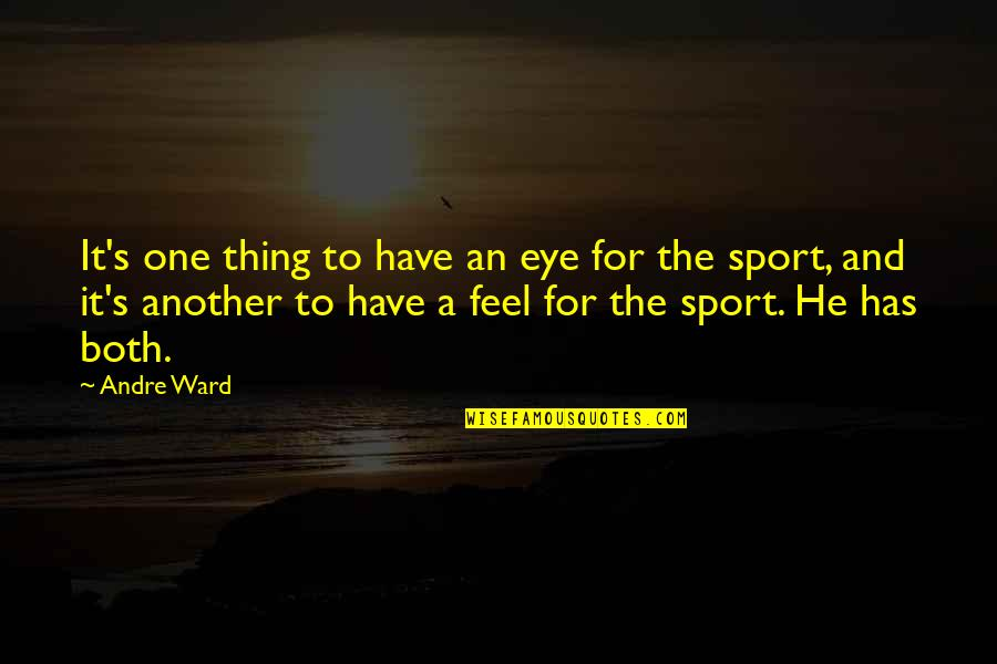 Sports Motivation Quotes By Andre Ward: It's one thing to have an eye for