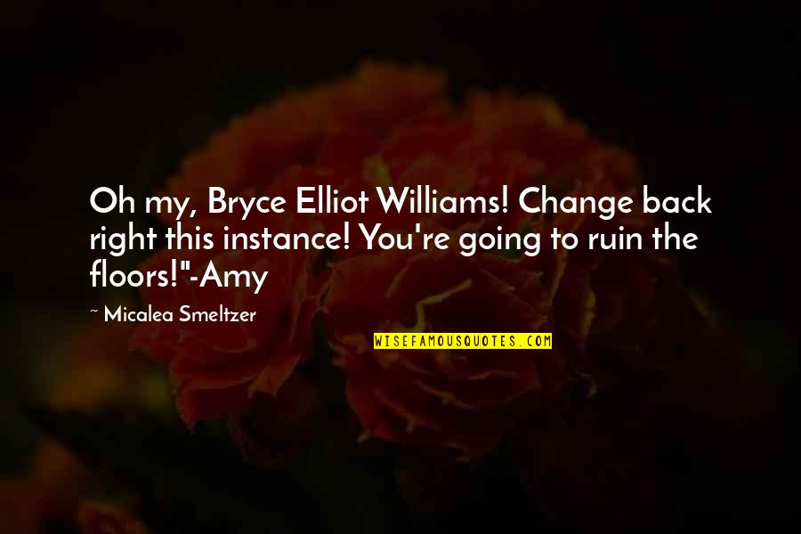 Sportsbook Quotes By Micalea Smeltzer: Oh my, Bryce Elliot Williams! Change back right