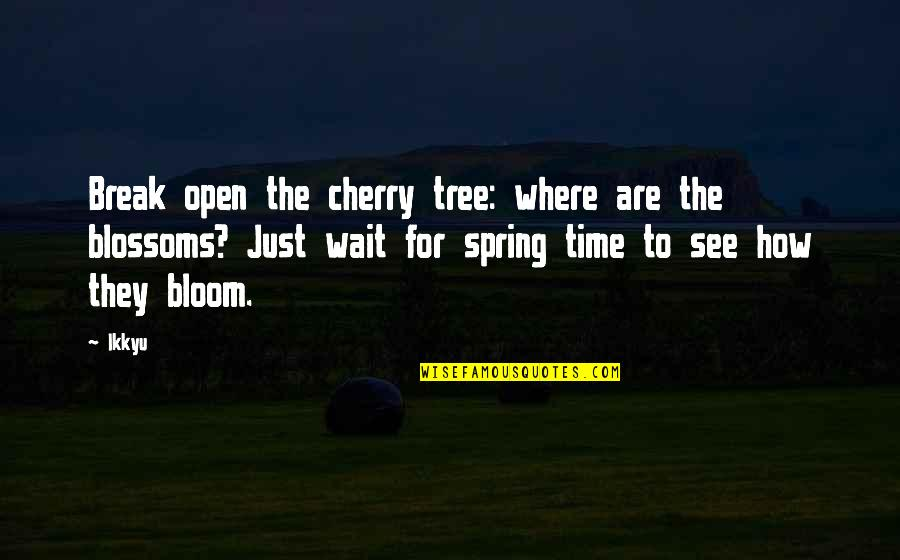 Spring Break Over Quotes By Ikkyu: Break open the cherry tree: where are the